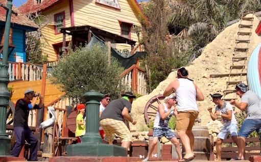 マルタ島ポパイ村でのショー