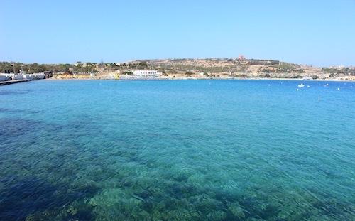 マルタ島ポパイ村近くのビーチ