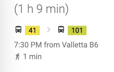 マルタ島ポパイ村バス